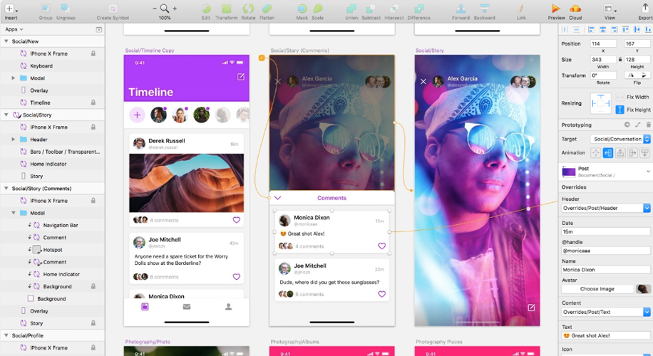 Sketch, el software de diseño interactivo y prototipado para apps yweb